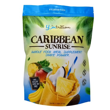 YUMtrition Meal Replacement Shake. Whole Food, Plant & Whey. Caribbean 15 (Best Whey Meal Replacement Shake)