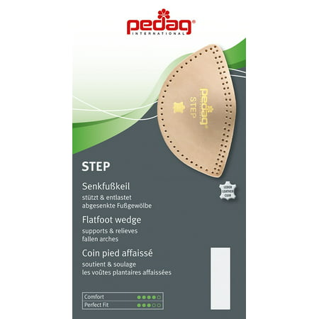 Image of Pedag Step Self Adhesive Leather Arch Support Inserts, Tan, US W8-10/EU 38-40