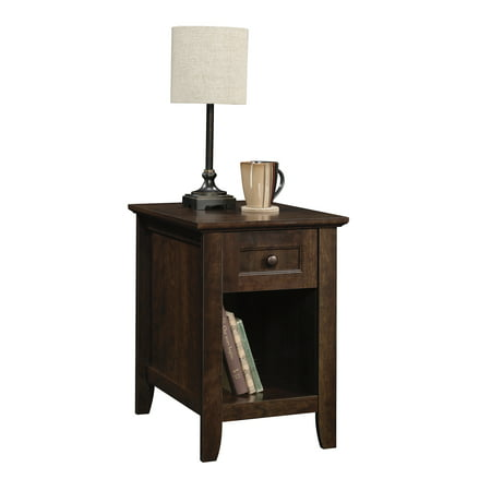 Better Homes & Gardens Parker Recliner Side Table, Estate Toffee Finish