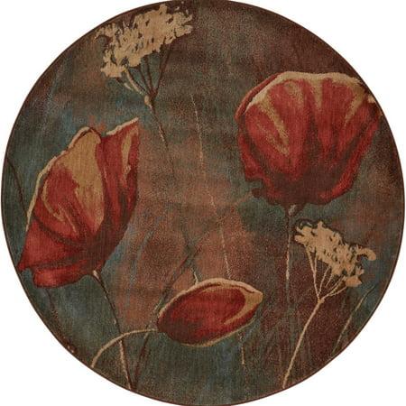 Nourison somerset poppy field round rug 56 round walmart nourison somerset poppy field round rug 56 round mightylinksfo