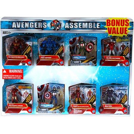 Marvel Avengers Action Figures, Set of 8 Value Pack ...
