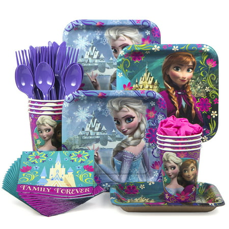Frozen Birthday Party Standard Tableware Kit (Serves 8) (18th Birthday Tableware)