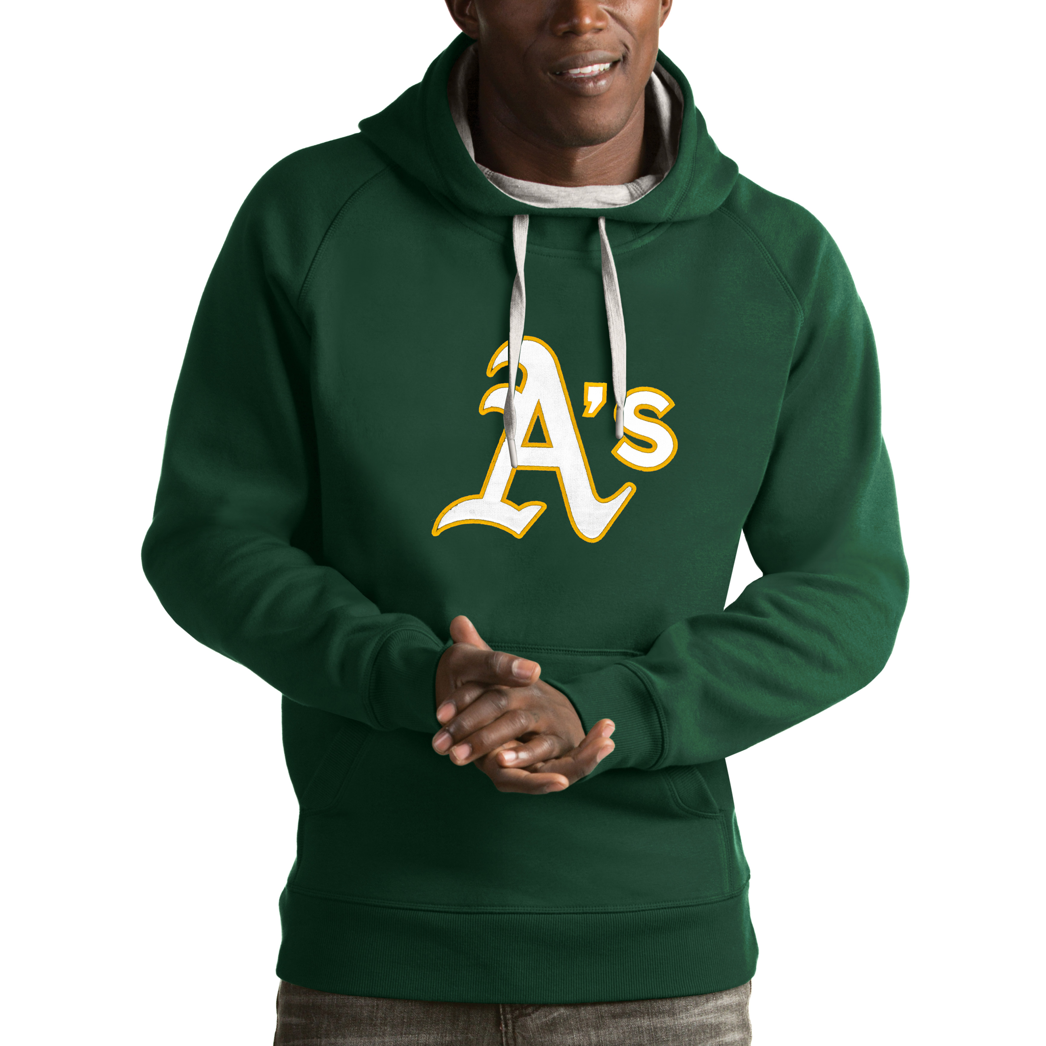 Oakland Athletics Antigua Victory Pullover Hoodie - Green