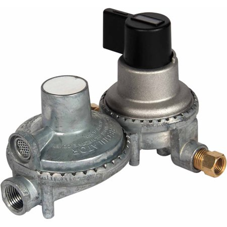 (Camco Propane Double-Stage Auto-Changeover Regulator)