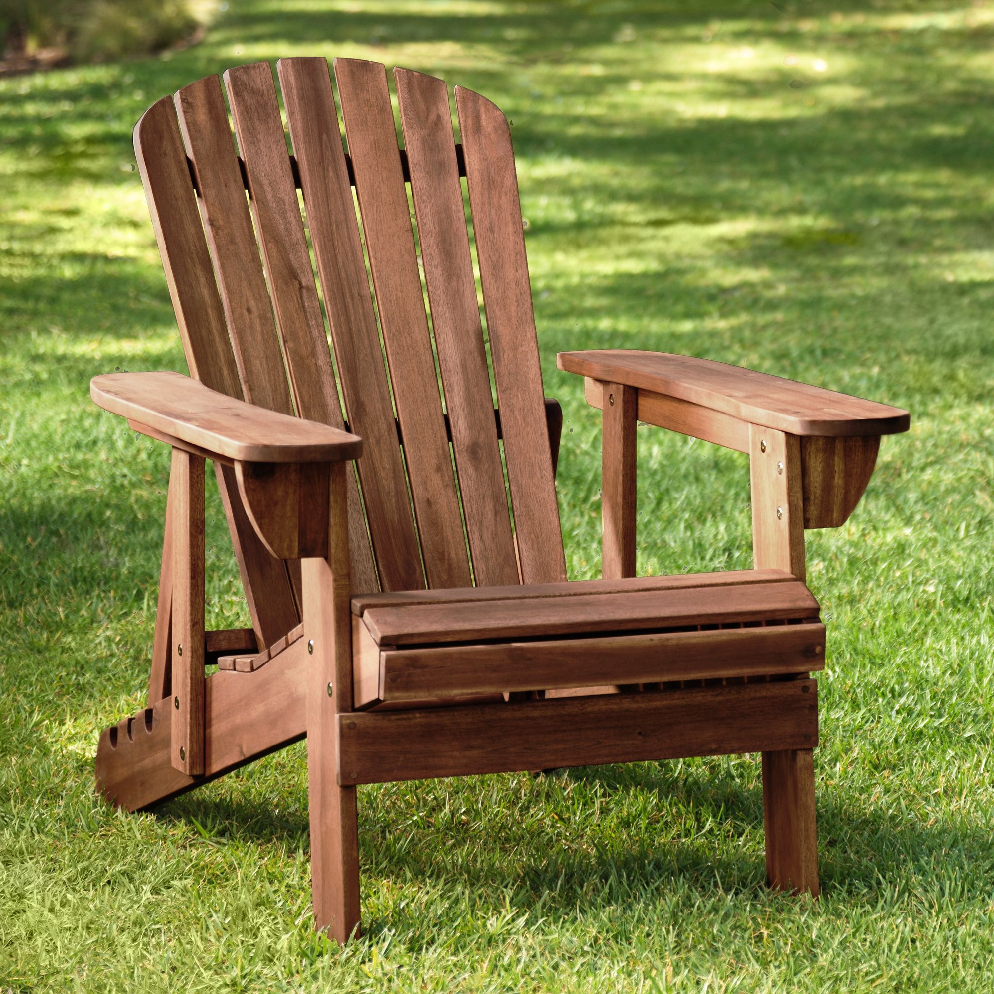 Teal Island Designs Fletcher Adjustable Back Dark Natural Adirondack Chair