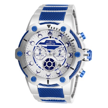 - Invicta Men's 27114 Star Wars Quartz Multifunction Silver Dial Watch