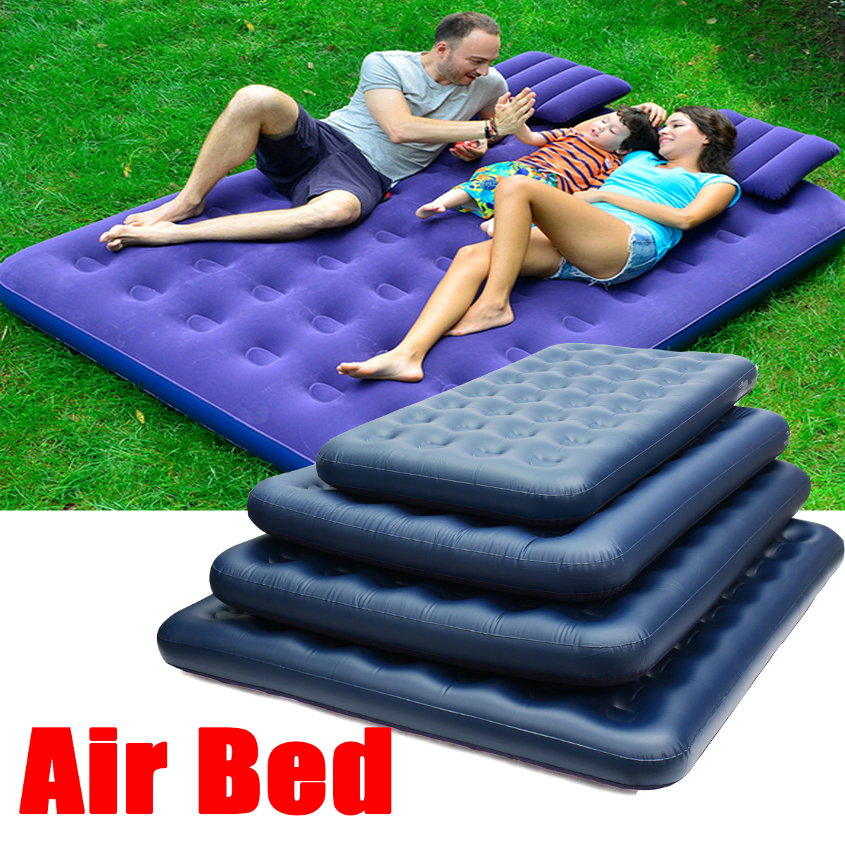 Outdoor Inflatable Air Mattress Full Size Intex Classic Downy Airbed Bed Sleeper