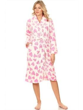 ca45b48dc6 Product Image 114087 Women Spa Robe Long Plush Bath Robe Super Soft Thick  Warm Green XL