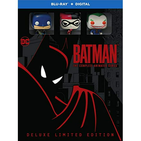 Batman: The Complete Animated Series Deluxe (Remastered Blu-ray + Digital + Funko Pocket Pops + Collectible Cards)