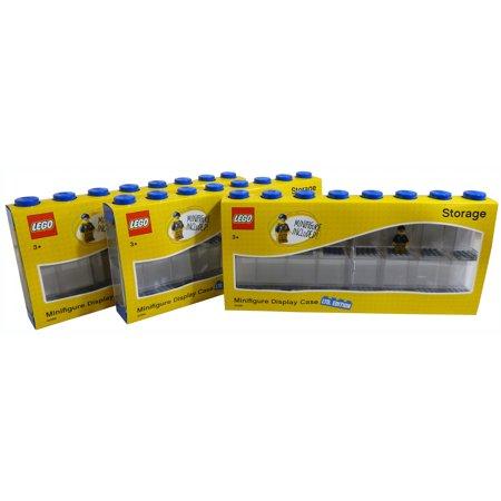 Lego Large Blue 16 Minifigure Storage And Display Case