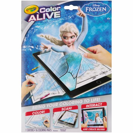Crayola Color Alive From Disney Frozen, Brings Your Coloring To Life, 16 Coloring Pages And 7 Crayons Included - Halloween Coloring Pages Disney Printable