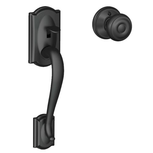 Schlage FE285-CAM-GEO Camelot Lower Handleset Featuring the Georgian Knob for Us by Schlage