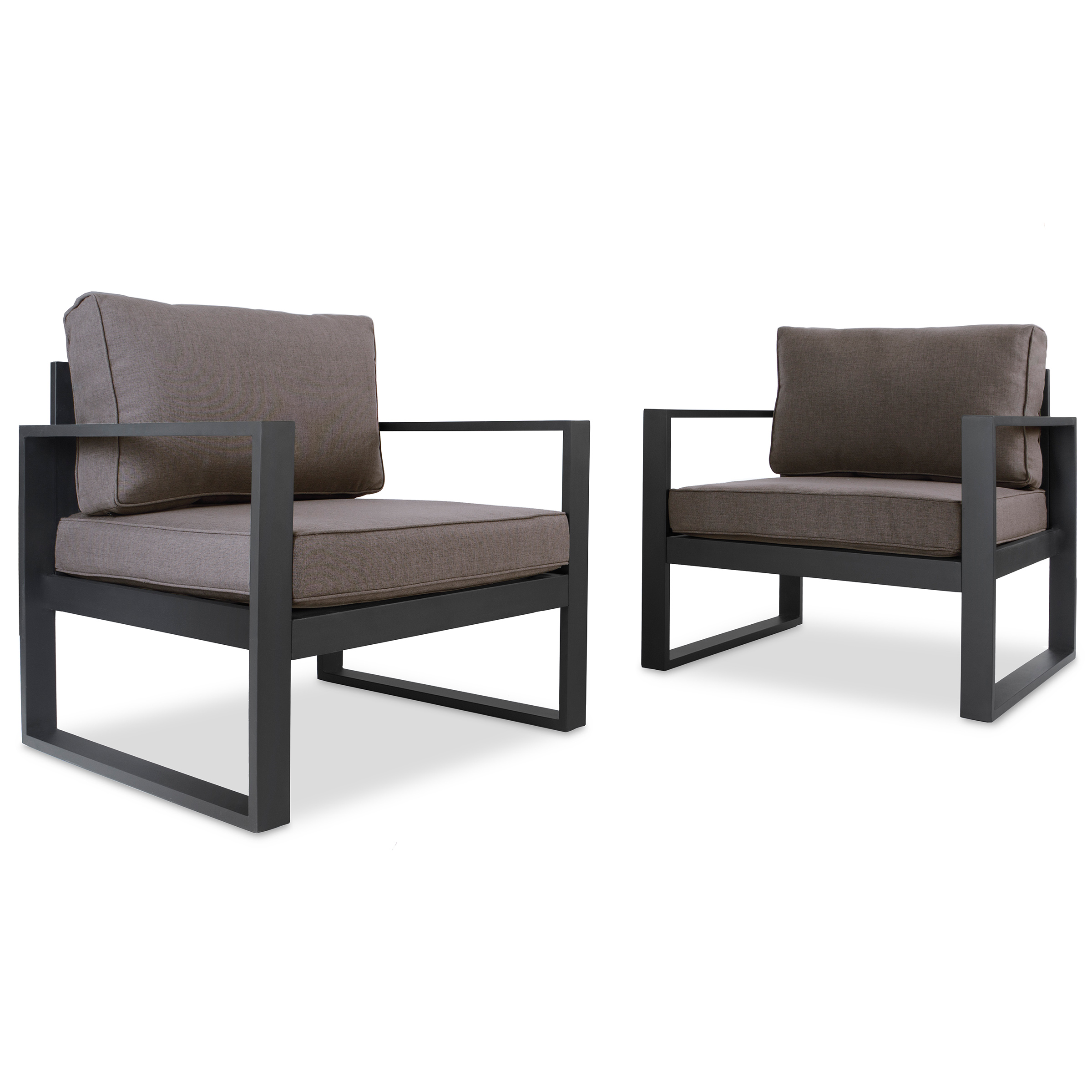 Baltic Casual Chair Set in Black by Real Flame