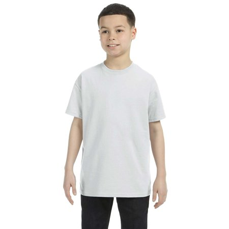 Branded Gildan Youth 53 oz T-Shirt - ASH GREY - L (Instant Saving 5% & more on min 2)