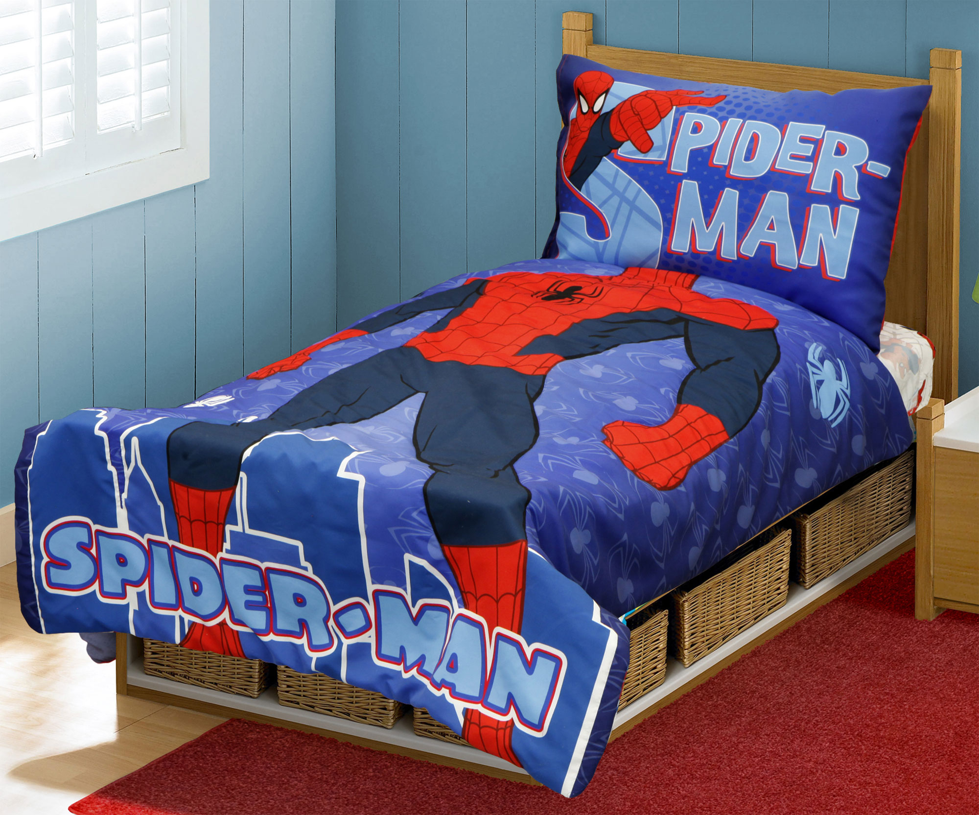 set man wall vie bedding with sets room design curtains decorating frozen stickers ideas amazon decor image scheme is what walmart furniture single loft superman themeimage color argos box of blackout baby decals toddler bedroom duvet spiderman and in spider cover
