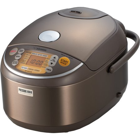 Zojirushi NP-NVC18XJ Induction Heating Pressure Rice Cooker & Warmer, 10 Cup (Uncooked), Stainless Brown, Made in Japan