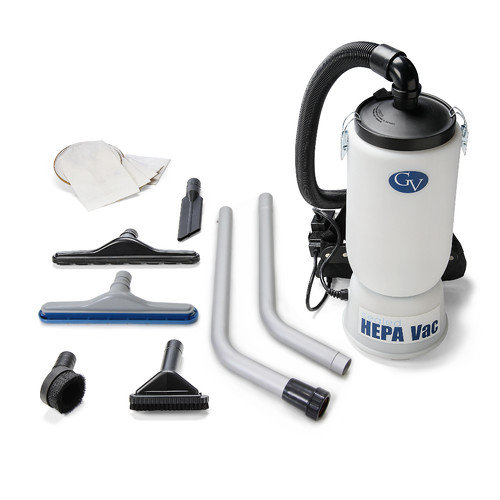 GV New 6 Quart HEPA BackPack Vacuum with Proffesional 1.5'' Tool Kit Commercial Restaurant Industrial