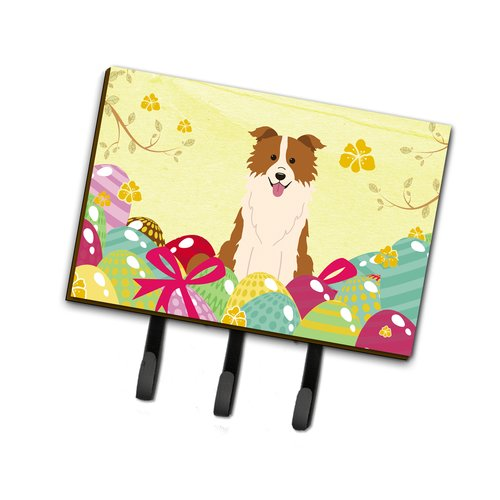 The Holiday Aisle Easter Eggs Border Collie Leash or Key Holder