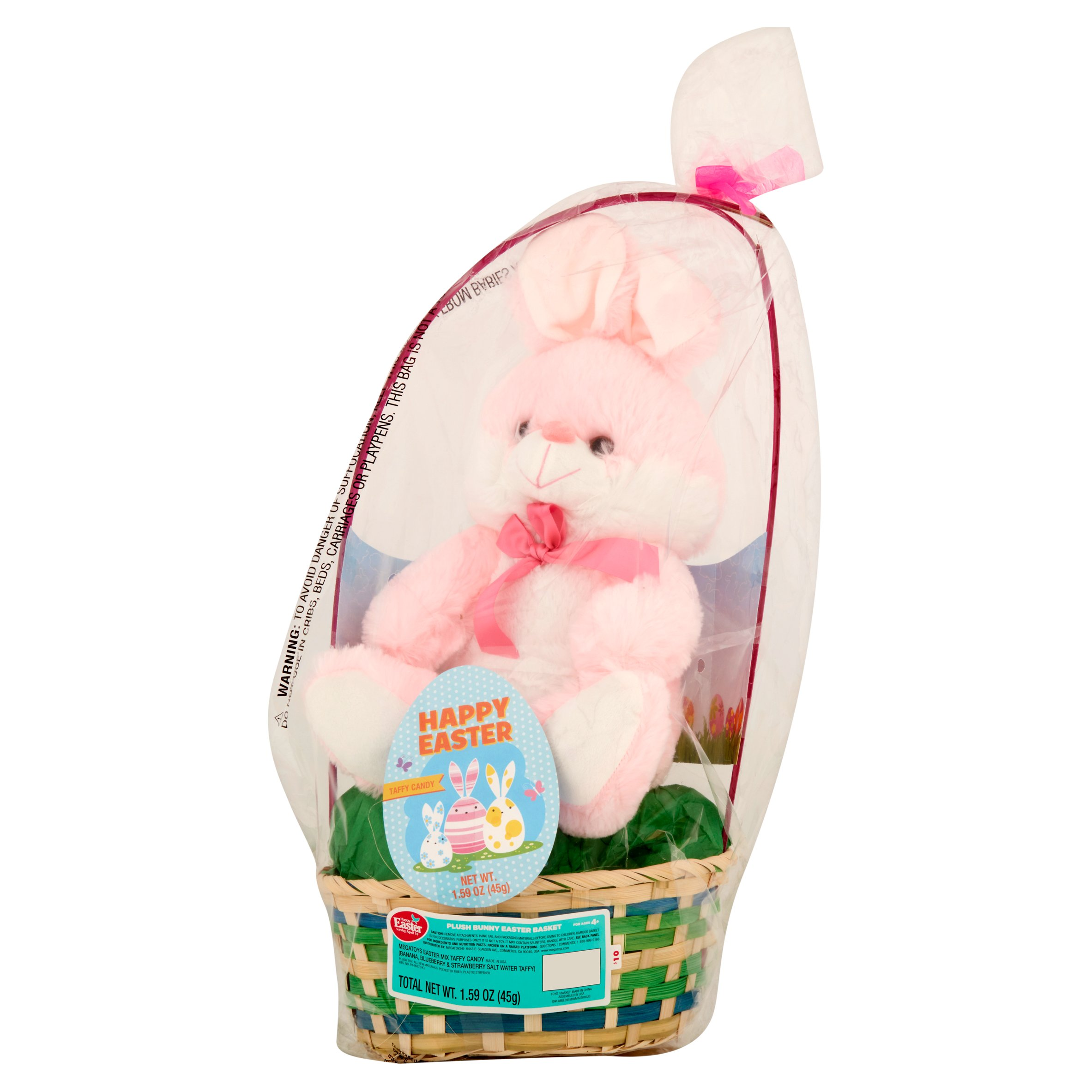 Easter basket with plush animal toy primrose taffy item or easter basket with plush animal toy primrose taffy item or color may vary walmart negle Images