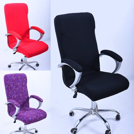 Computer Office Chair Covers Elastic Spandex Fabric Stretch Rotating Swivel Chair Seat Covers Washable Durable Chair Cover