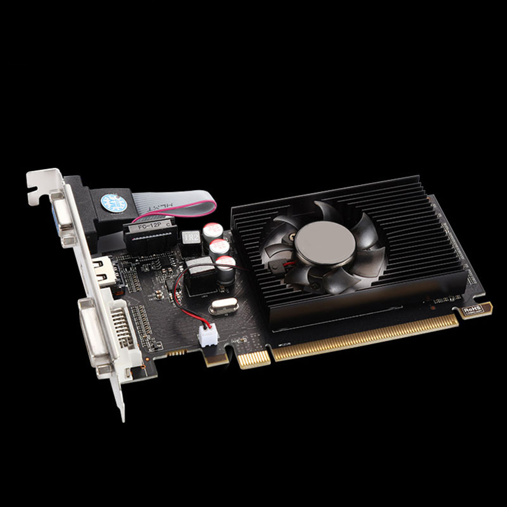 Girl12Queen GPU HD6450 2GB DDR3 HDMI Graphic Video Graphics Card PCI Express for Gaming