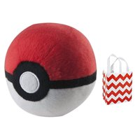 Pokemon Poke Ball Plush & Gift Bag Bundle Set