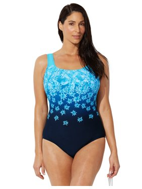 Swimsuits For All Women's Plus Size Sport One Piece Swimsuit