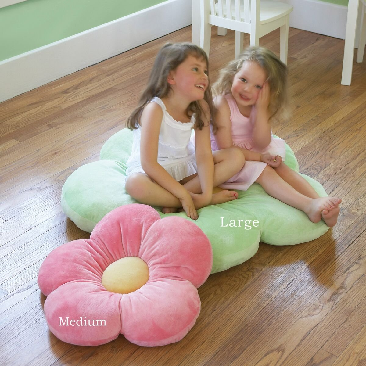 Butterfly Craze Daisy Flower Plush Floor Pillow