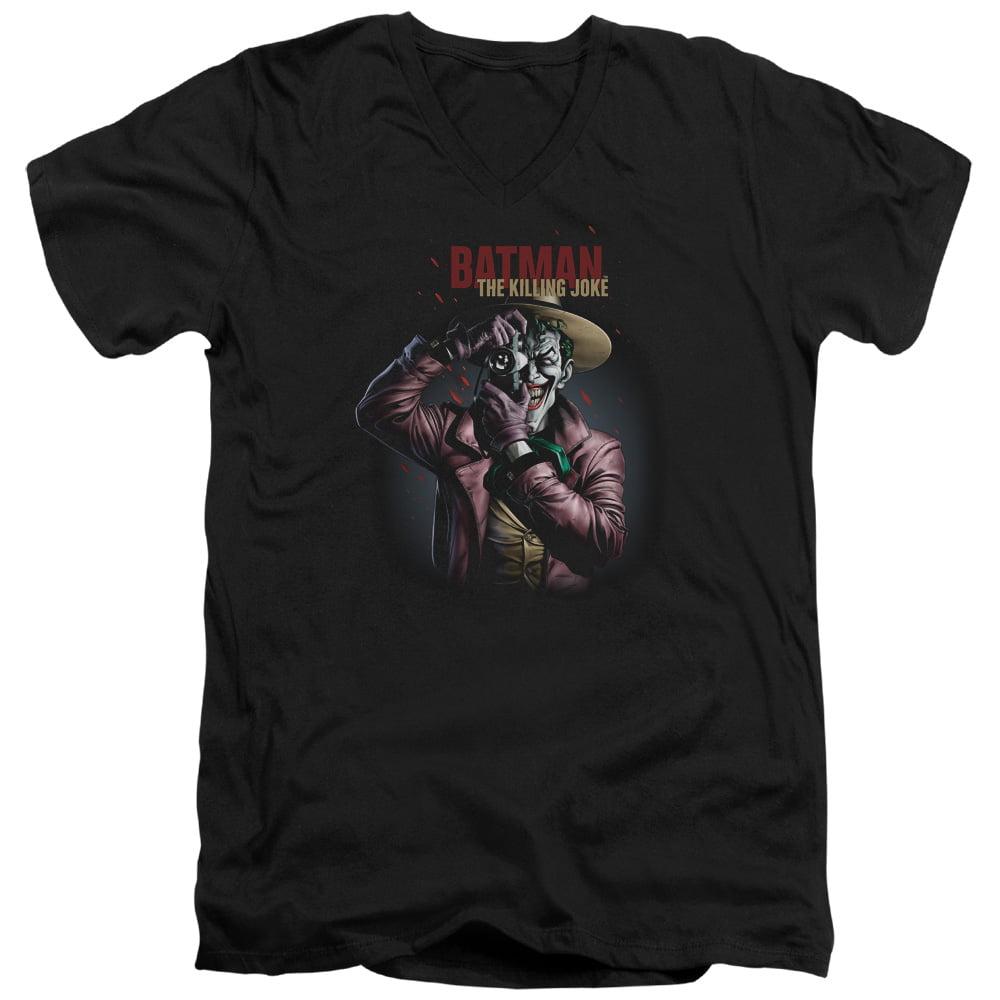 Batman Killing Joke Camera Mens V-Neck Shirt