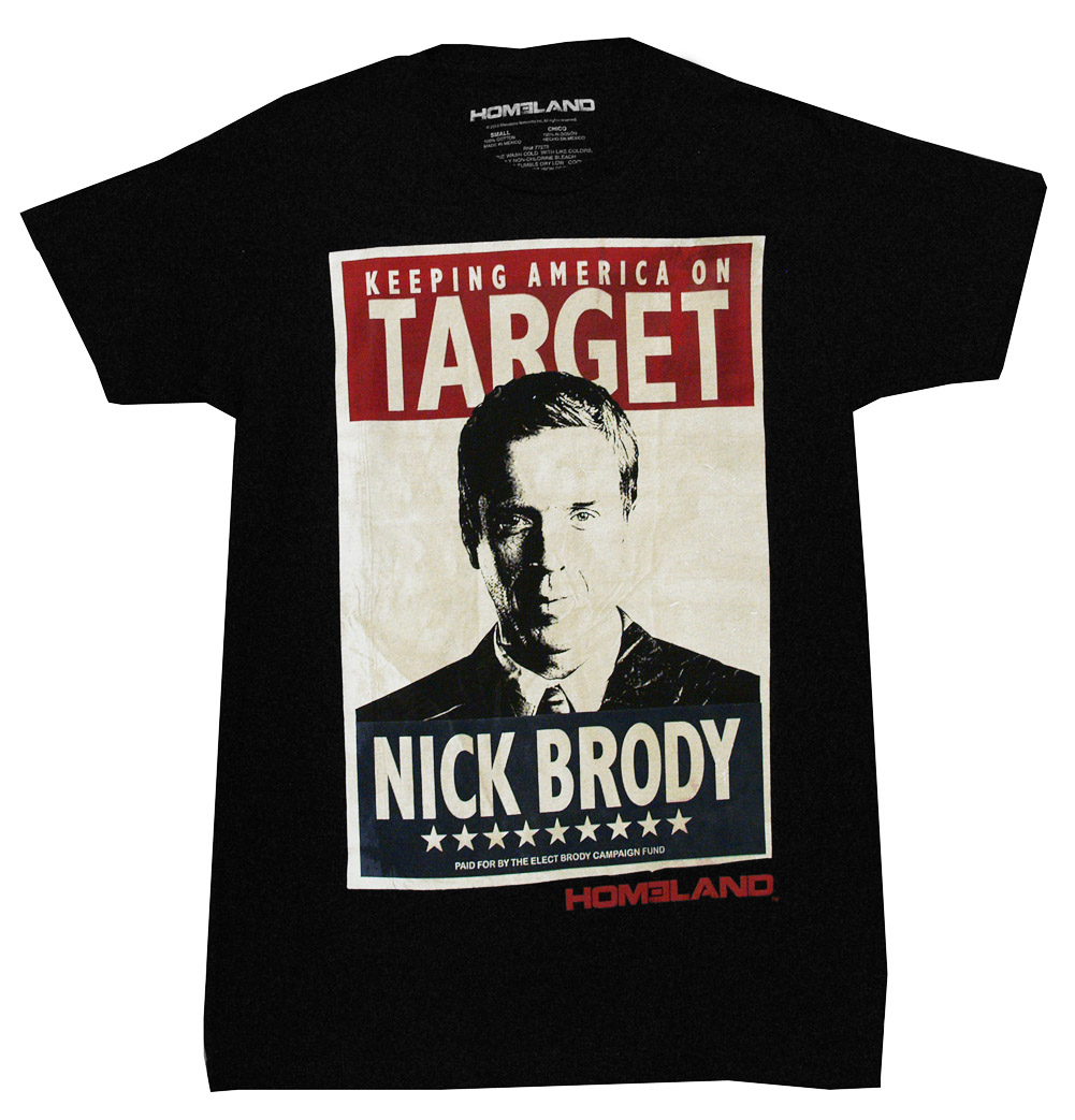 Homeland Nick Brody Keeping America On Target TV Show Adult T-Shirt Tee