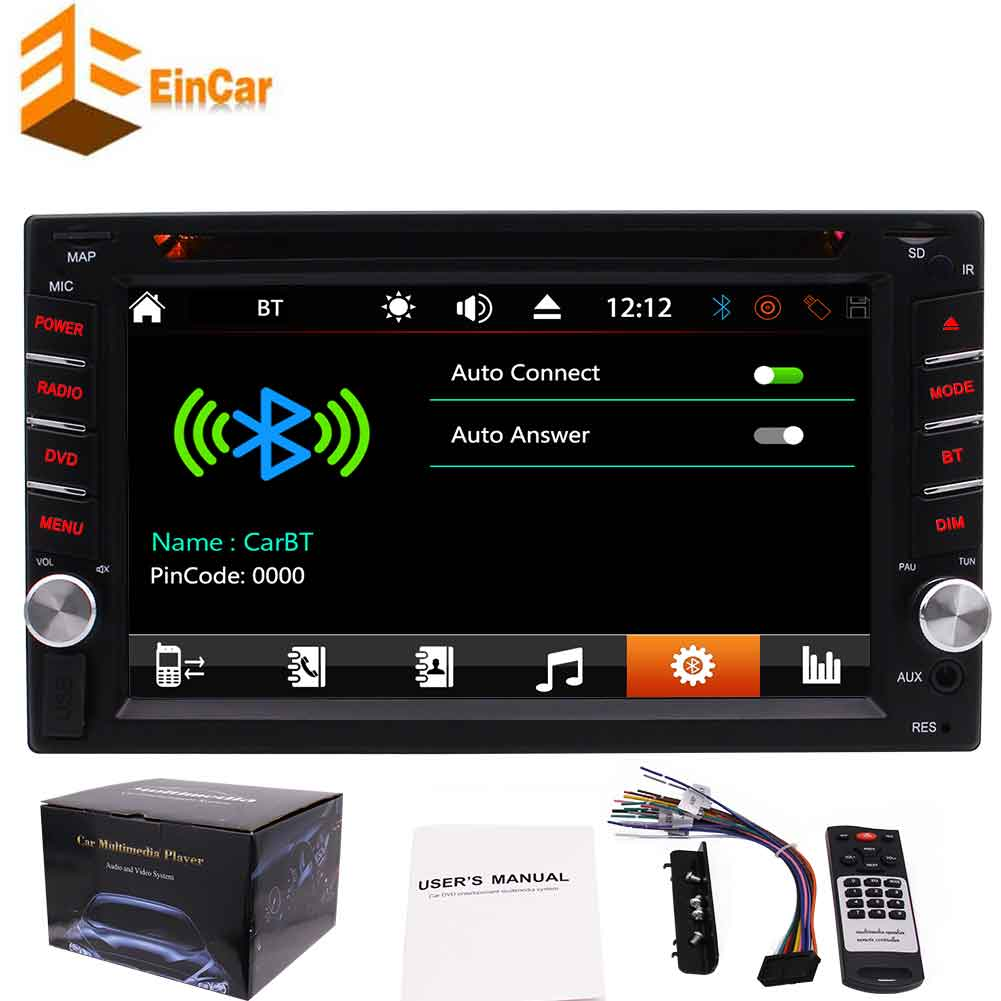 Large 6.2 inch 5 points Capacitive Multi-touch Screen double din car dvd player autoradio 2din main unit car pc in dash automagnitol no GPS car radio stereo atuo tactics with 7 color button back