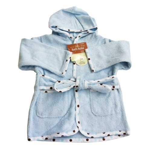 American Baby Company Organic Terry Baby Bath Robe - Blue
