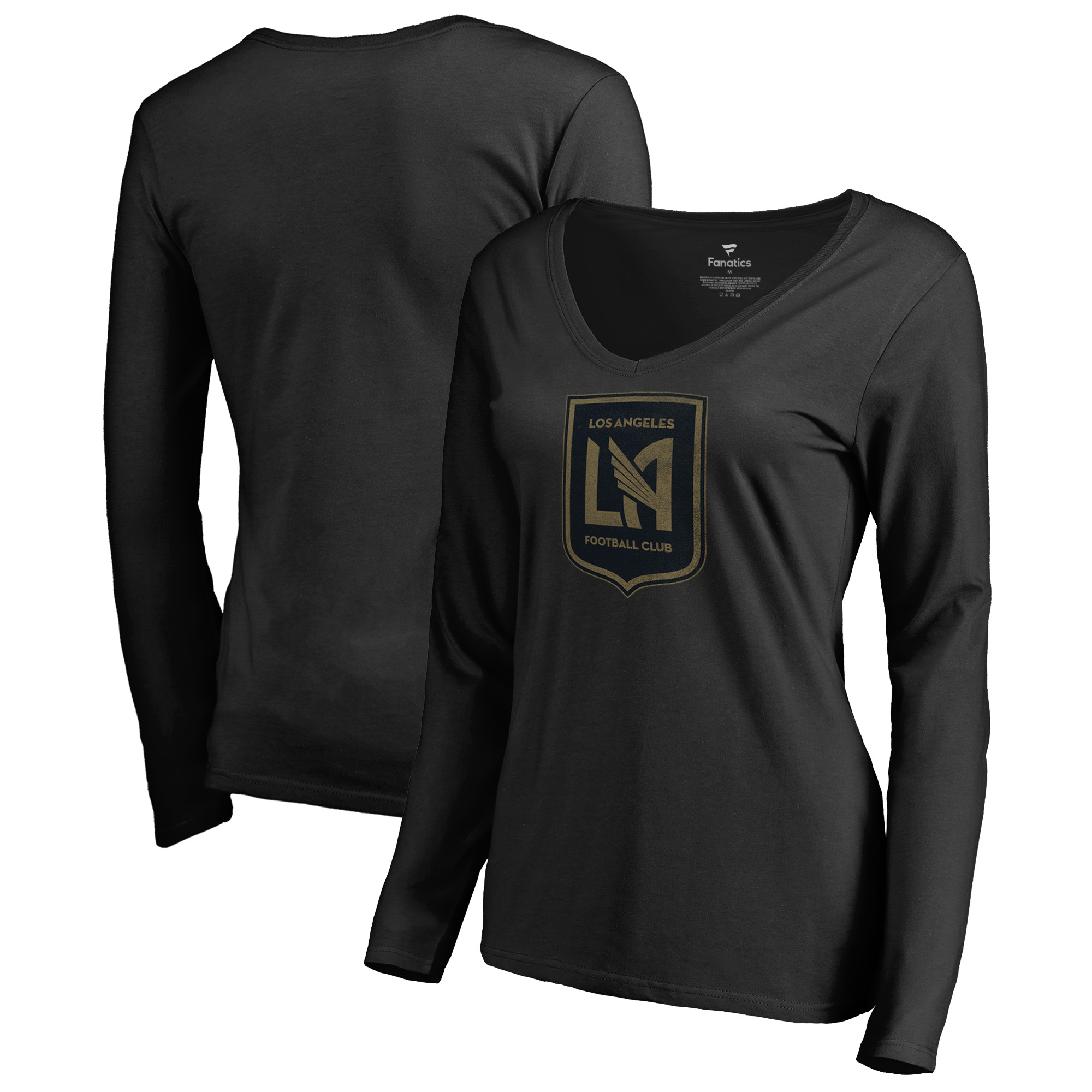 LAFC Fanatics Branded Women's Graceful V-Neck Long Sleeve T-Shirt - Black