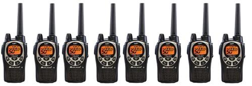 Midland GXT1000VP4 Xtra Talk Two Way Radio 50 Channels 36 Mile Range JIS4 Waterproof (8 Pack) by Midland