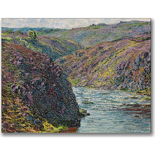 Trademark Fine Art 'Ravines of the Creuse' Canvas Art by Claude Monet, 18x24