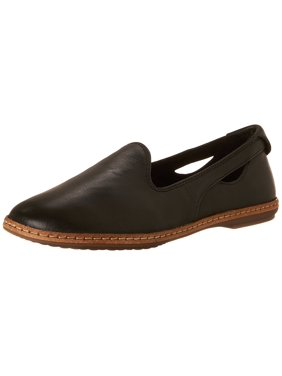 Hush Puppies Women's Sebeka Piper Flat, Black Leather, 11 M US
