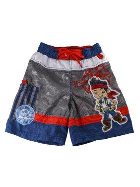 Disney Store Jake and the Never Land Pirates Blue & Orange Swim Trunks for Boys