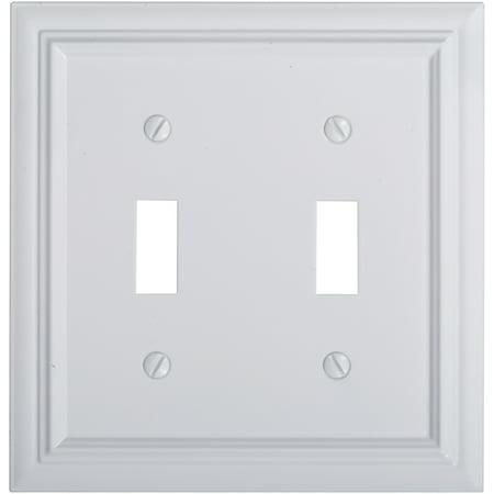Hardware Metal Plate - Elumina™ Décor™ Cast Metal White Wallplate