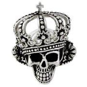 HellFire Sterling Silver King of Hell Skull Ring 18
