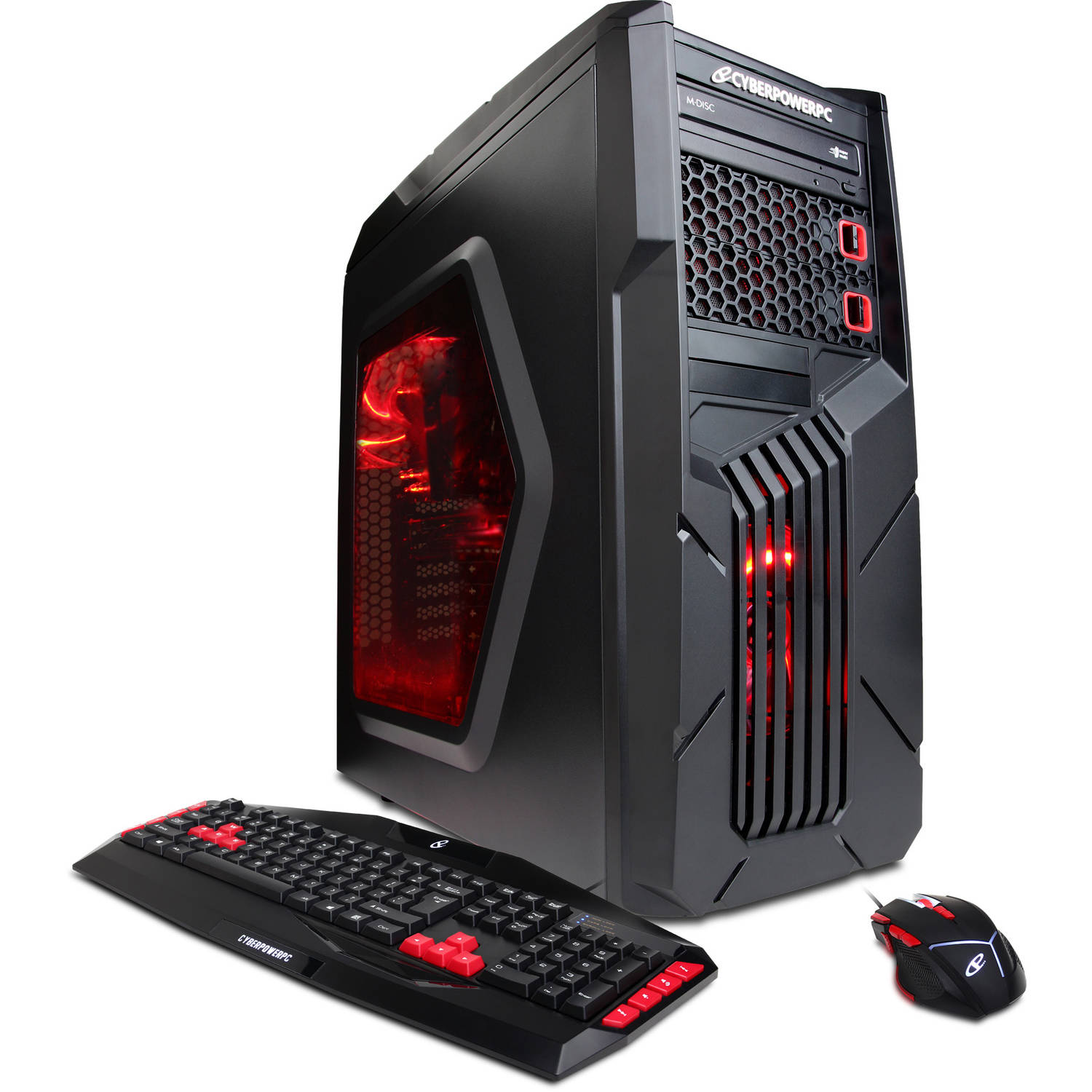 CyberPowerPC Black/Red Gamer Ultra GUA3400W Desktop PC with AMD Vishera FX-6300 Hexa-Core Processor, 8GB Memory, 1TB Hard Drive and Windows 10 Home (Monitor Not Included)