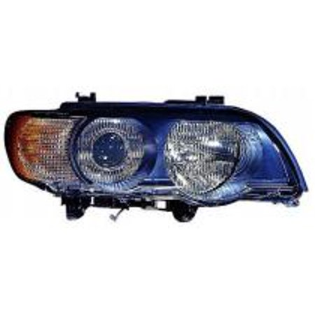 Go-Parts » 2000-2003 BMW X5 Headlight Headlamp Assembly Front (Xenon + with White Turn Signals) - Right (Passenger) 63 12 6 930 240 BM2519109 Replacement For BMW X5
