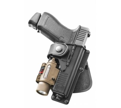 Fobus Glock 19 23 32 with Laser Light Hinged Paddle by Fobus