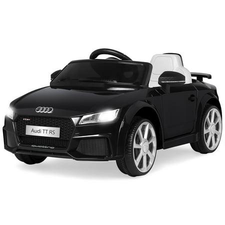 Best Choice Products 6V Kids Licensed Audi TT RS Ride-On Car w/ Parent Control, 2 Speeds, Suspension, AUX Input - Black ()