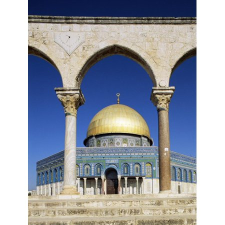 Dome of the Rock, Mosque of Omar, Temple Mount, Jerusalem, Israel, Middle East Print Wall Art By Sylvain Grandadam