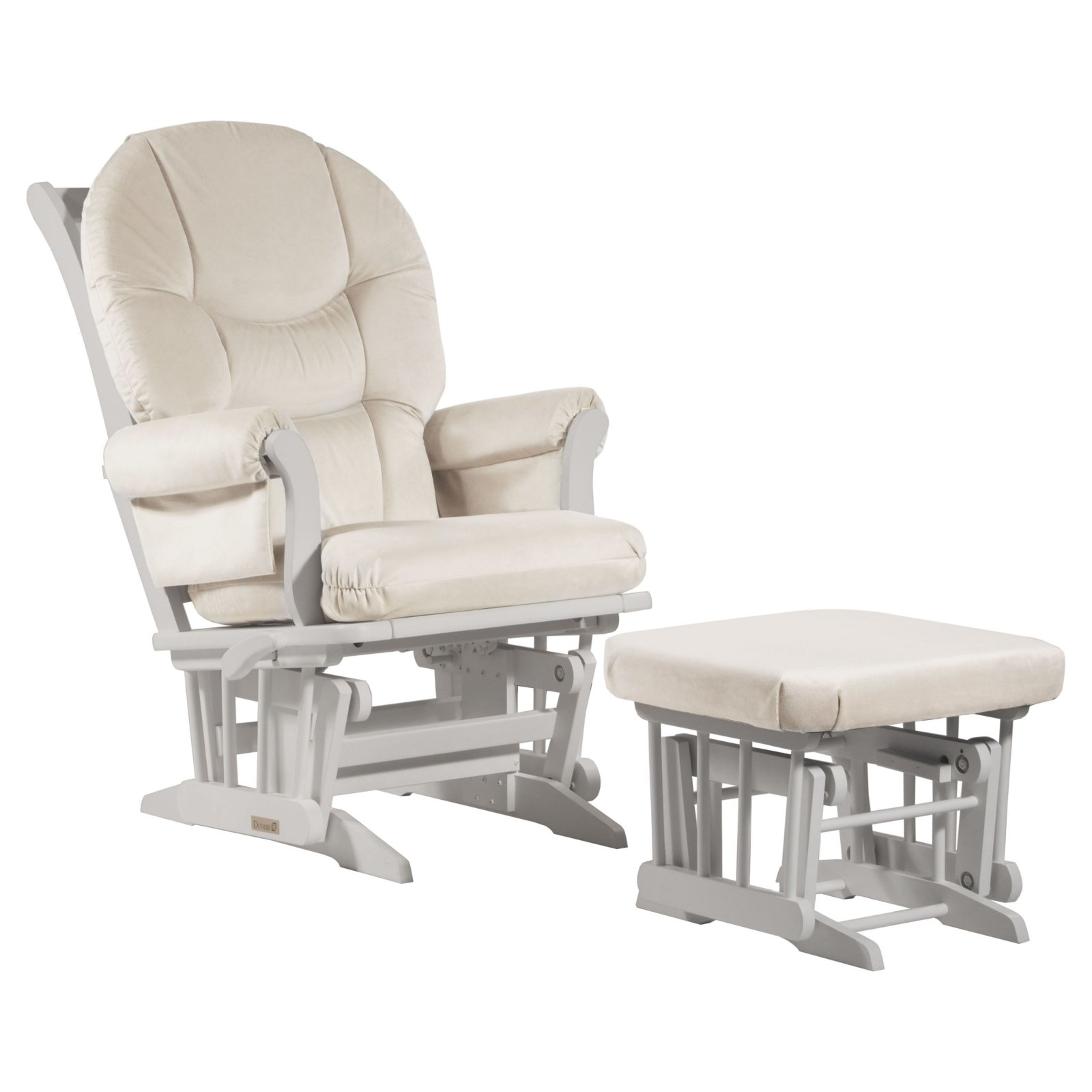 Dutailier Bowback Sleigh Glider with Ottoman
