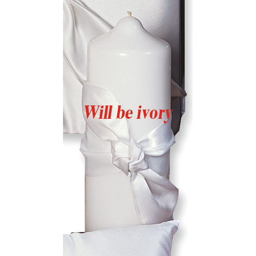 Ivory Love Knot Pillar Candle Ceremonial Item Cle Holder For Women