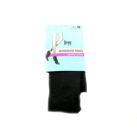 Legg's Seasonless Tights Lightweight Opaque Black Size Q (Lightweight Pantyhose)