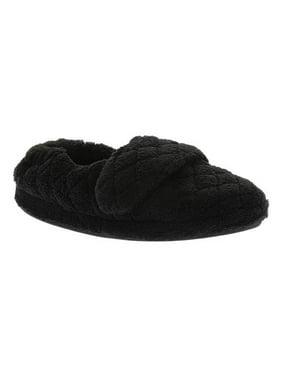 Acorn Women's SPA WRAP Comfort Slippers BLACK SW