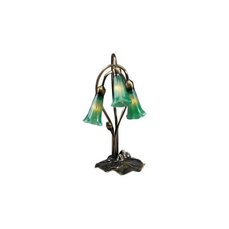 Light Lily Accent Lamp (3-Light Green Pond Lily Accent)