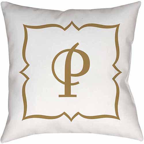 MWW, Inc. Thumbprintz Gold Script Monogram Decorative Pillows